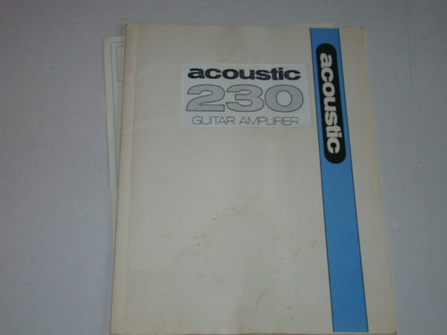 1974 Acoustic Model 230 Owners Manual