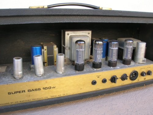 1972 VINTAGE 1972 MARSHALL 100W SUPERBASS PLEXI AMP AMPLIFIER 1992