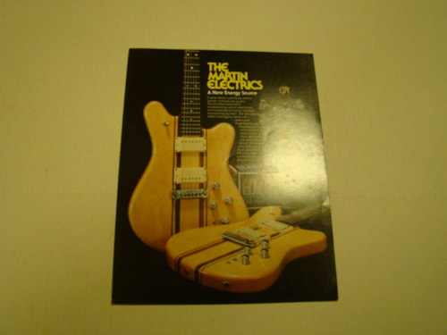 1981 Martin Electric Guitar Pamphlet