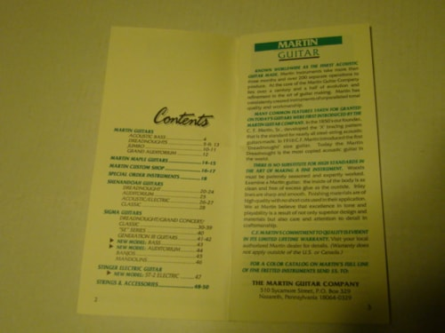 1992 Martin Fretted Instrument Catalog