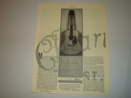 1988 Martin Dreadnought Story