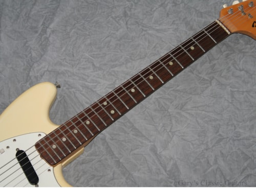 1974 Fender® Mustang®  White (#FEE0536)