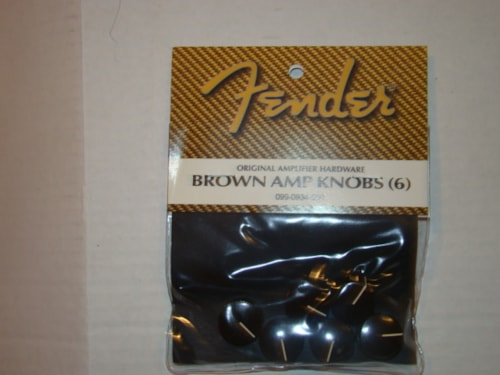 2009 Fender Brown Amp Knobs (1960 Repros) (Pack of 6)