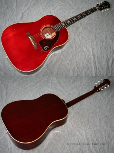 1968 Epiphone Texan, Cherry Red (#EPA0003)