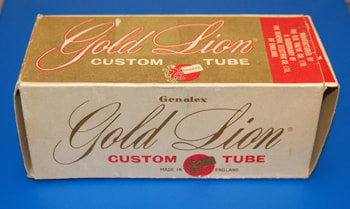 1963 Genalax Gold Lion Tube Box