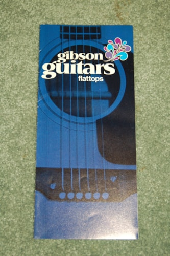 1970 Gibson 1970 Flattop Guitar pamphlet