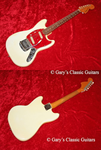 1966 Fender® Mustang® White (#FEE0435)
