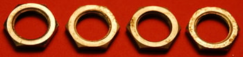1961 Gibson Hex Nuts for Volume & Tone Pots