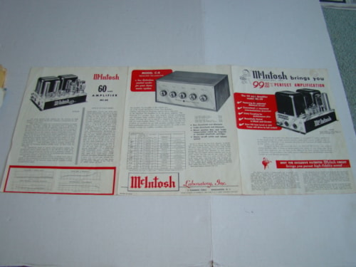 1960 McIntosh Catalog Stereo Gear