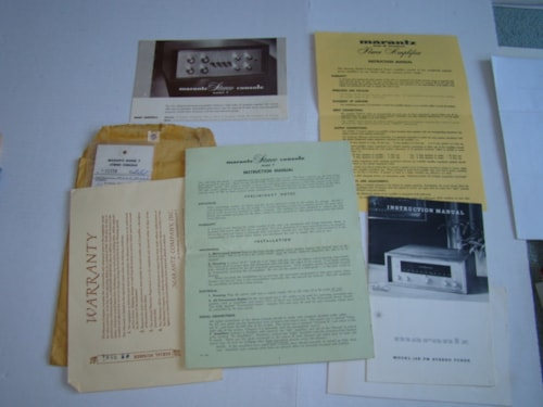 1959 Marantz Catalog, Instr. Manual, Schematic