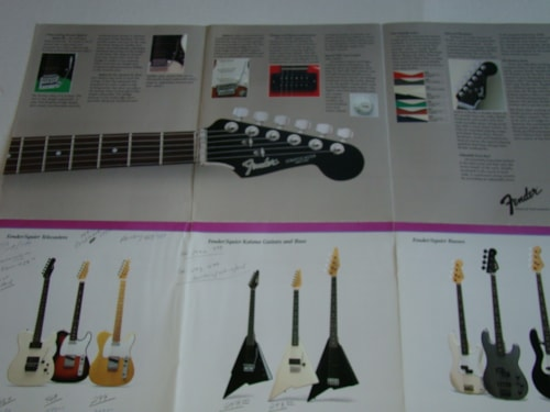 1985 Fender® Japanese Guitar Catalog (Pamphlet)