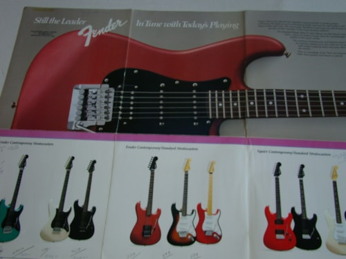 1985 Fender Japanese Guitar Catalog (Pamphlet)