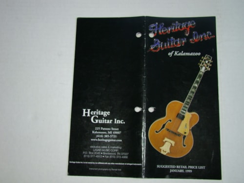 1999 Heritage Colored Catalog (Complete Line)