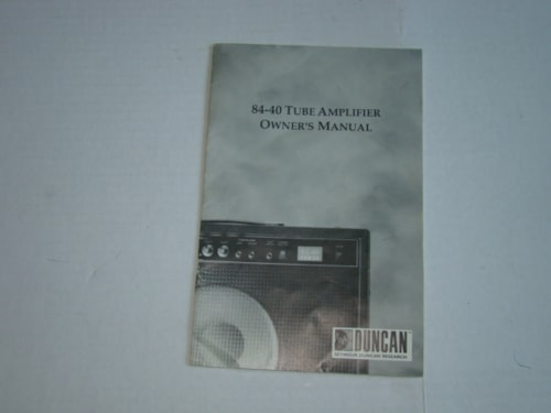1995 Seymour Duncan 84-40 Tube Amp Owners Manual
