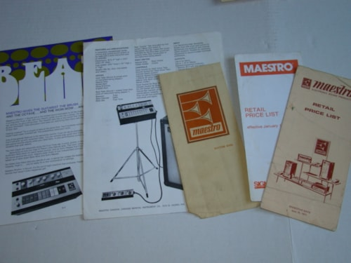 1970 Maestro Price Guides/Products Pamphlet