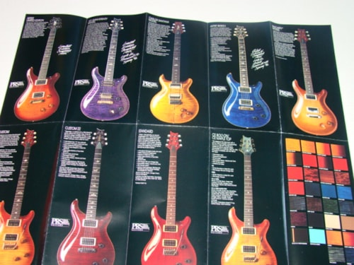 1995 Paul Reed Smith Santana Poster/Catalog
