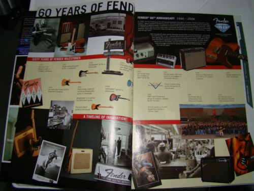 2006 Fender Frontline 60th Ann.Catalog-258 pg.