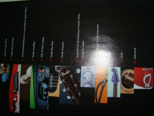 2001 Fender Catalog/Frontline-210 pgs./01/02/07/09/price each