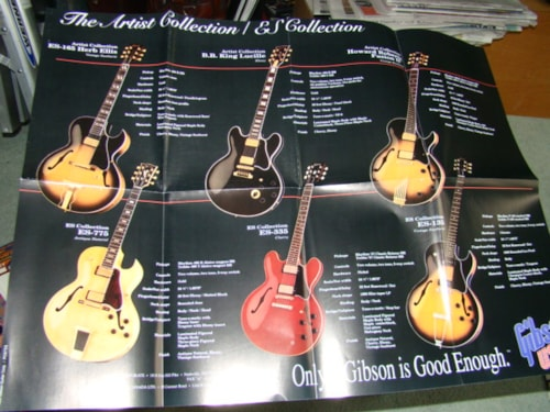 1993 Gibson Artist Collection/B.B.King Poster