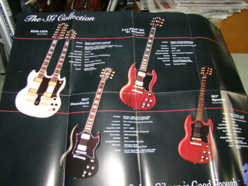 1993 Gibson SG/Angus Young Poster