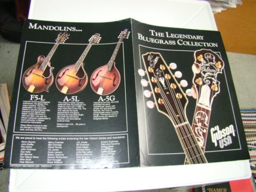 1988 Gibson Bluegrass Collection Catalog