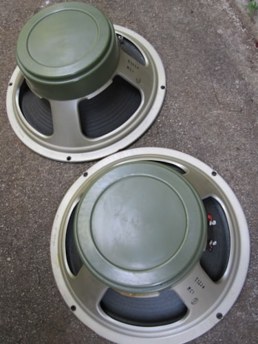 ~1970 CELESTION G12H30 8 OHM GREENBACK VINTAGE SPEAKERS