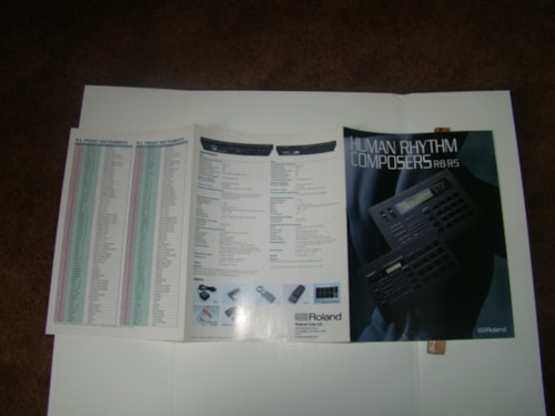 1990 Roland Rhythm Composer Manual