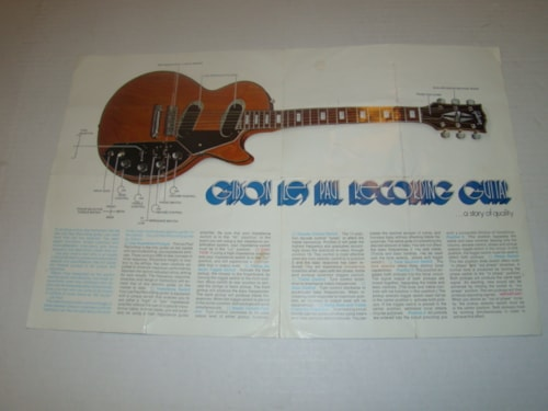1971 Gibson Les Paul Recording Guitar Flyer