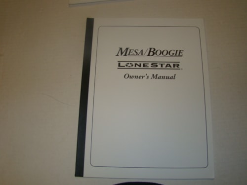 2008 Mesa Boogie Lonestar Owners Manual