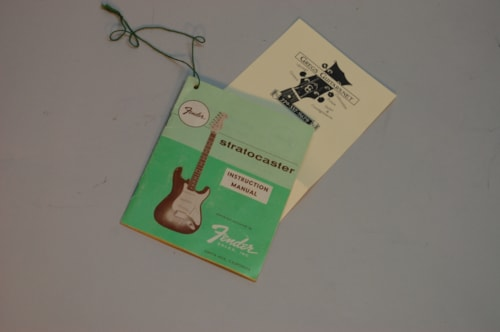 ~1956 Fender case candy ,guitar strap