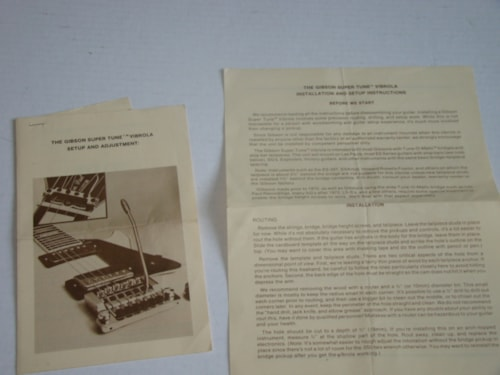 1986 Gibson Super Tune Vibrola Setup Pamphlet