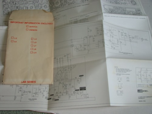 1972 Norlin Lab Series L3 Schematic/Replacement Price List