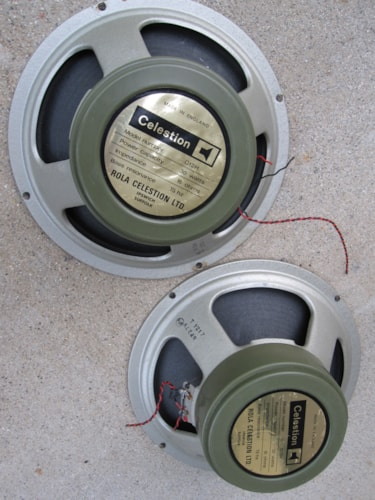 1973 CELESTION G12H30 VINTAGE MARSHALL GREENBACK PAIR