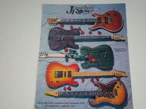 1990 Jonathan Rose Guitar Pamphlet