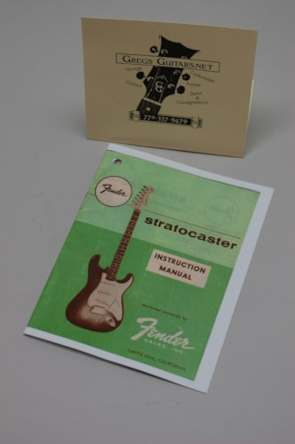 1959 Fender® Stratocaster® user / owner Manuals