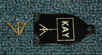 1961 Kay 1961 Kay Truss Rod cover