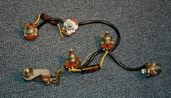 1966 Gibson Es 125 Wiring Assembly With Black Beauties