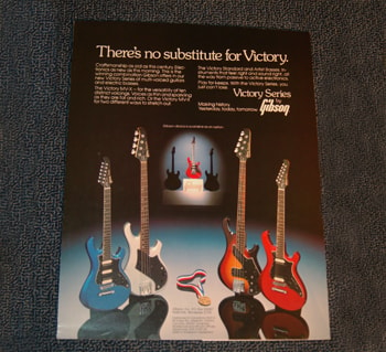 1982 Gibson Victory Series Gibson Advertisement