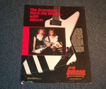 1980 Gibson The Scorpions Gibson Advertisement