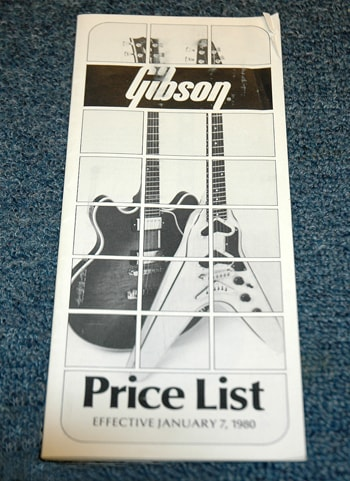 1980 Gibson Retail Price List