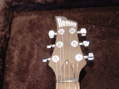 2006 Ed Roman Custom Guitars Korina Custom Quicksilver W/f hole