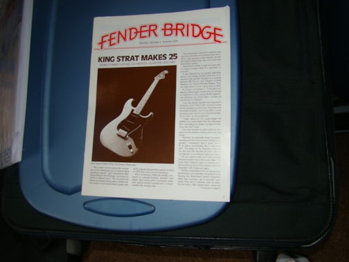 1979 Fender® 25th Anniversary Strat® Intro Pamphlet