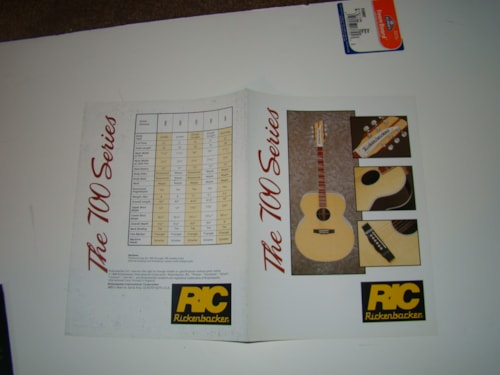 1994 Rickenbacker 700 Series Catalog