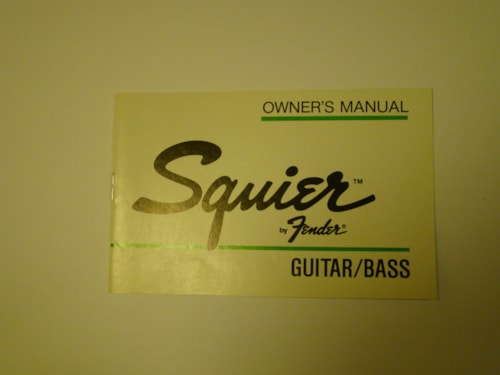 1985 Fender Squier Guitar/Bass Owners Manual