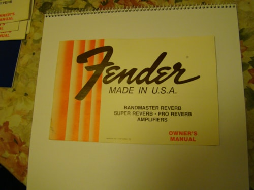 1982 Fender Amp Owners Manual (Master Volume)