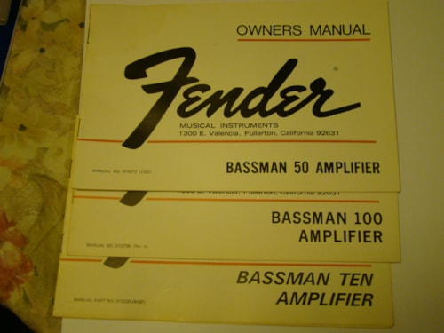 1976 Fender® Bassmen Owners Manual/Warranty