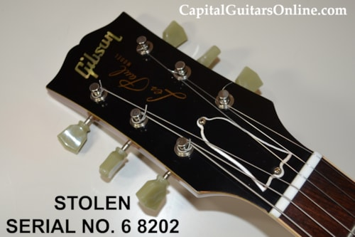 2008 Gibson Custom LPR6 # 6 8202 STOLEN $500 REWARD