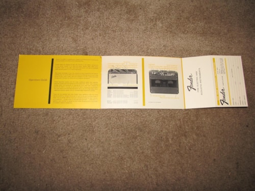 ~1965 Fender Mid 60s AMP Catalog/Warranty