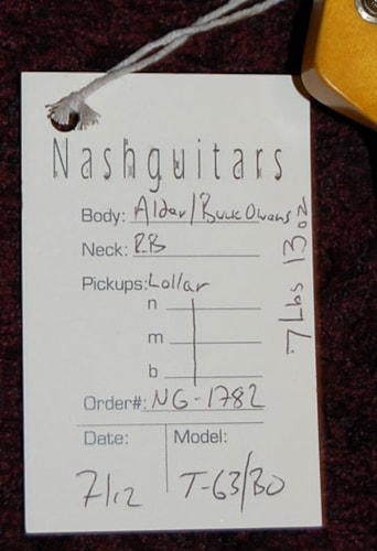 2012 Nash Guitars Buck-A-Roo T