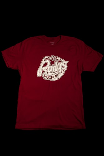 Rudy's Music Rudys Throwback Logo Cardinal T-shirt XLarge